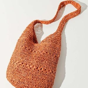 NWT Soft Straw Tote Bag
